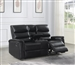Dario Reclining Console Loveseat in Black Performance Leatherette Upholstery by Coaster - 601515