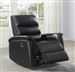 Dario Glider Recliner in Black Performance Leatherette Upholstery by Coaster - 601516