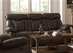 Zimmerman Power Reclining Sofa in Brown Leatherette Upholstery by Coaster - 601711P