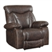 Zimmerman Recliner in Brown Leatherette Upholstery by Coaster - 601713