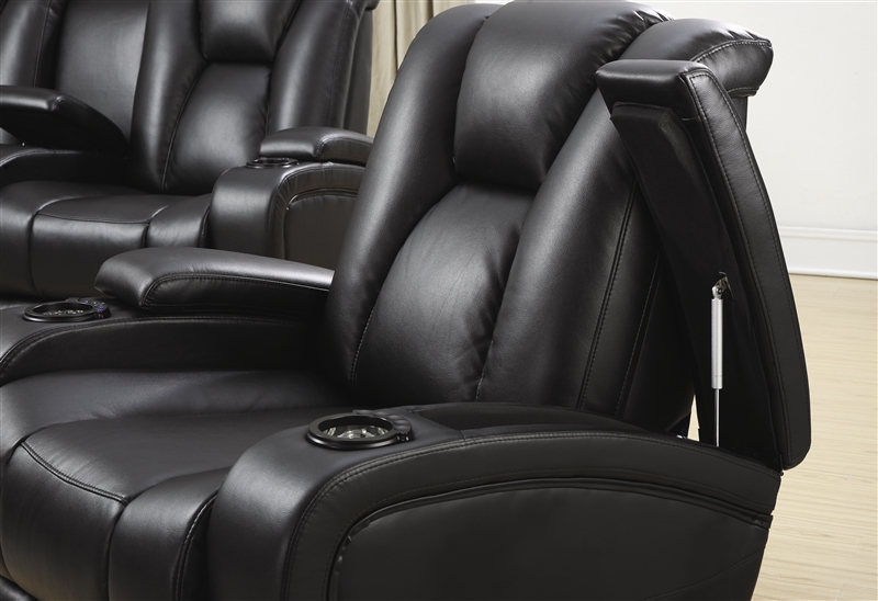 Element 2 Piece Power Recline Sofa Set in Black Leather Upholstery by Coaster - 601741P-S & Element 2 Piece Power Recline Sofa Set in Black Leather Upholstery ... islam-shia.org