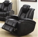 Delange Power Recliner in Black Performance Leatherette by Coaster - 601743P