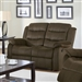 Rodman Reclining Loveseat in Chocolate Velvet Upholstery by Coaster - 601882