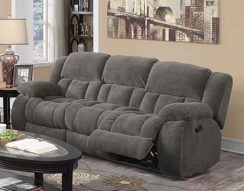 Weissman Reclining Sofa In Charcoal