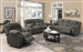 Weissman 2 Piece Reclining Sofa Set in Charcoal Chenille by Coaster - 601921-S