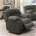 Weissman Glider Recliner in Charcoal Chenille by Coaster - 601923