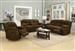 Weissman 2 Piece Reclining Sofa Set in Brown Chenille by Coaster - 601924-S