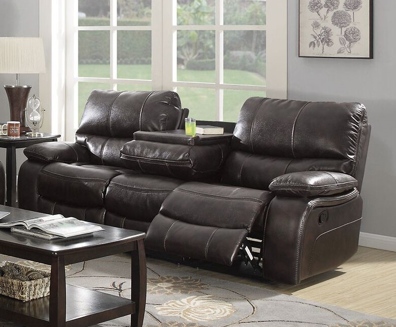 Willemse Reclining Sofa In Dark Brown Leatherette Upholstery By Coaster    601931