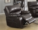 Willemse Glider Recliner in Dark Brown Leatherette Upholstery by Coaster - 601933