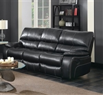Willemse Reclining Sofa in Black Leatherette Upholstery by Coaster - 601934