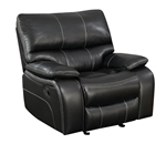 Willemse Glider Recliner in Black Leatherette Upholstery by Coaster - 601936