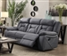 Higgins Reclining Sofa in Grey Performance Coated Microfiber Upholstery by Coaster - 602261