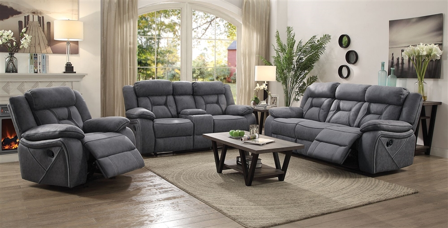 Houston 2 Piece Reclining Sofa Set In