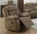 Higgins Glider Recliner in Tan Performance Coated Microfiber Upholstery by Coaster - 6022636