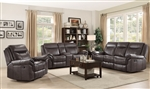 Sawyer 2 Piece Reclining Sofa Set in Brown Leatherette Upholstery by Coaster - 602331-S