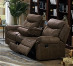 Sawyer Reclining Sofa in Two Tone Taupe Microfiber Upholstery by Coaster - 602334