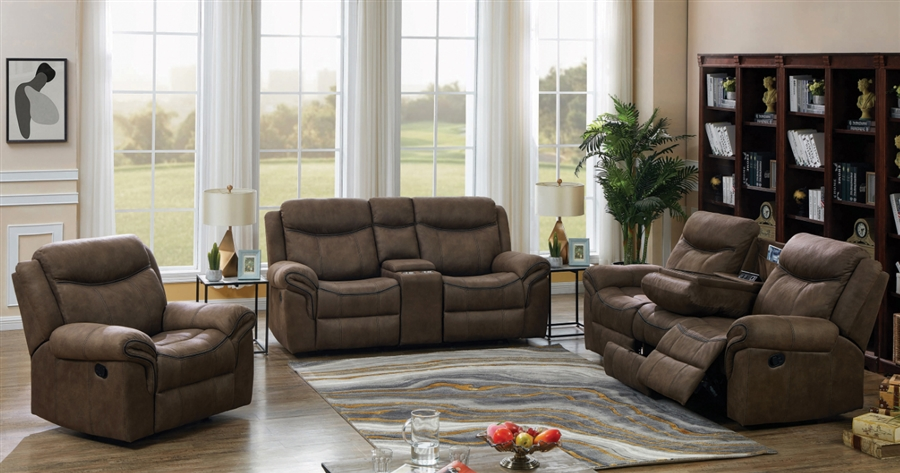 Astounding Sawyer 2 Piece Reclining Sofa Set In Two Tone Taupe Microfiber Upholstery By Coaster 602334 S Dailytribune Chair Design For Home Dailytribuneorg