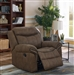 Sawyer Glider Recliner in Macchiato Brown Performance Microfiber Upholstery by Coaster - 602336