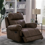 Brixton Glider Recliner in Buckskin Brown Performance Coated Microfiber by Coaster - 602443