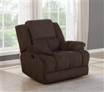Waterbury Glider Recliner in Brown Performance Fabric by Coaster - 602573