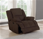 Waterbury Power Glider Recliner in Brown Performance Fabric by Coaster - 602573P