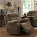 Myleene Glider Recliner in Mocha Fabric Upholstery by Coaster - 603033