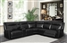 Cullin 6 Piece Sectional in Black Leatherette Upholstery by Coaster - 603160