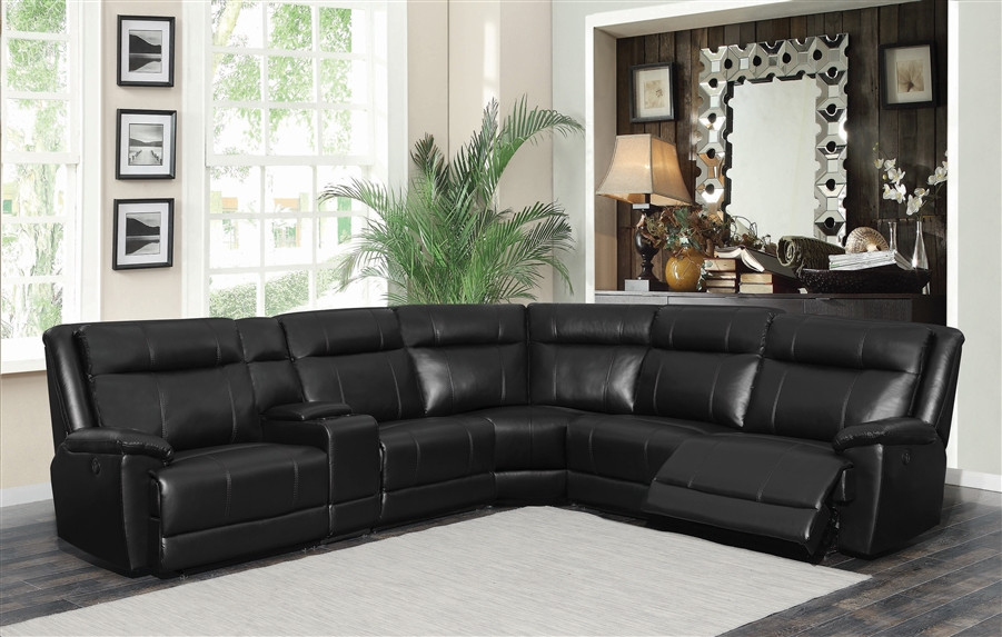 Fine Cullen 6 Piece Sectional In Black Leatherette Upholstery By Coaster 603160 Creativecarmelina Interior Chair Design Creativecarmelinacom