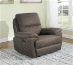 Variel Glider Recliner in Brown Performance Fabric by Coaster - 608983