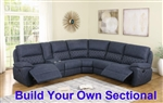Variel Build Your Own Reclining Sectional in Blue Performance Fabric by Coaster - 608990-BYO