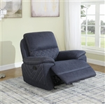 Variel Glider Recliner in Blue Performance Fabric by Coaster - 608993