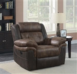 Saybrook Recliner in Chocolate / Dark Brown Performance Microfiber by Coaster - 609143
