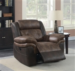 Saybrook Power Recliner in Chocolate / Dark Brown Performance Microfiber by Coaster - 609143P