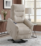 Beige Performance Fabric Power Lift Recliner by Coaster - 609405P