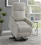 Beige Performance Fabric Power Lift Recliner by Coaster - 609407P
