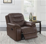 Flamenco Power Recliner in Brown Breathable Performance Leatherette by Coaster - 610203P