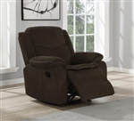 Jennings Power Glider Recliner in Brown Performance Chenille Fabric by Coaster - 610253P