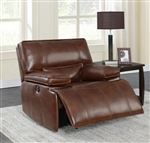 Southwick Power Glider Recliner in Saddle Brown Leather by Coaster - 610413P