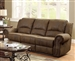 Sir Rawlinson Reclining Sofa in Brown Microfiber by Coaster - 650151