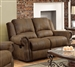 Sir Rawlinson Gliding Reclining Loveseat in Brown Microfiber by Coaster - 650152