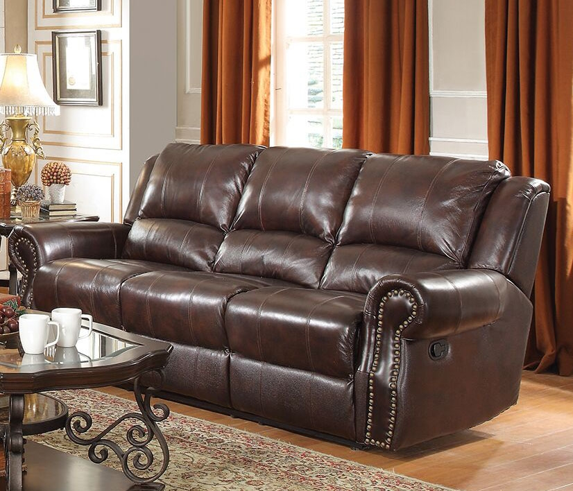 Fabulous Sir Rawlinson Reclining Sofa In Burgundy Brown Leather By Coaster 650161 Home Interior And Landscaping Palasignezvosmurscom