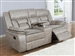 Greer Gliding Reclining Console Loveseat in Taupe Performance Leatherette Upholstery by Coaster - 651352