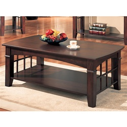 Cherry Finish Coffee Table by Coaster - 700008