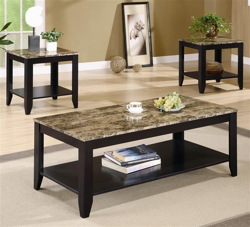 Occasional Table Set In Black Finish