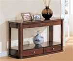Sofa Table in Distressed Cherry Finish by Coaster - 700249