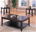 3 Piece Occasional Table Set in Cappuccino Finish by Coaster - 700285