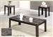 Marble Like Top 3 Piece Occasional Table Set in Black Finish by Coaster - 700375