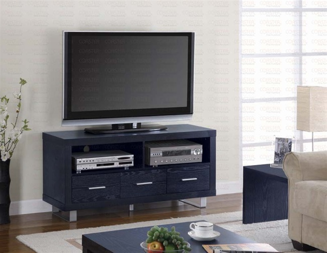 new styles 44cc6 f31c5 47-Inch TV Stand in Black Finish by Coaster - 700644