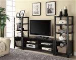 3 Piece Entertainment Center in Cappuccino Finish by Coaster - 700697-3