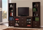 3 Piece Entertainment Center in Cappuccino Finish by Coaster - 700881-3